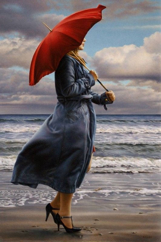 Peintres paul kelley for Painting red umbrella