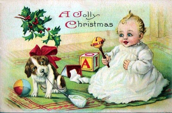 Anciennes cartes postales de noel - Boules de noel anciennes ...