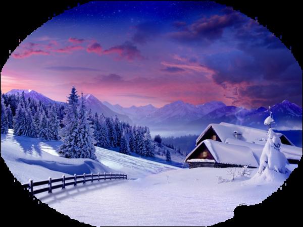 Tube paysage hiver coucher de soleil montagne tres beau - Photo coucher de soleil montagne ...