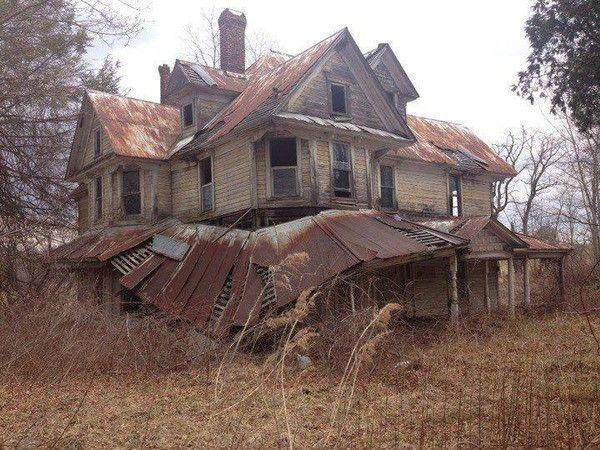 maison abandonné dessin