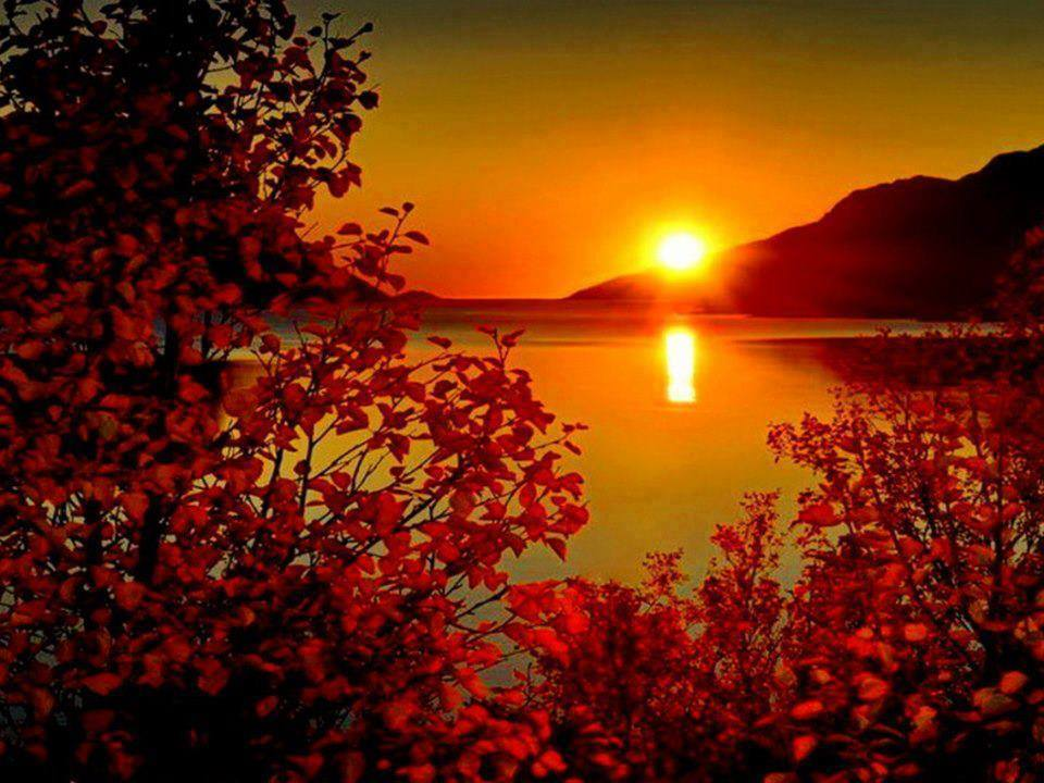 Coucher de soleil sur l 39 automne - Date de l automne ...